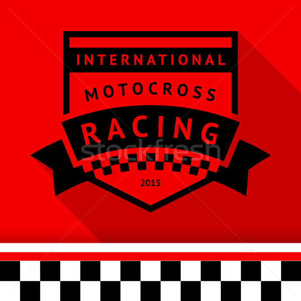 Racing stamp-14 Stock photo © Ecelop