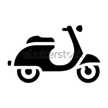 motorcycle flat icon Stock photo © Ecelop