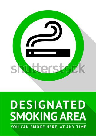 smoking area sign Stock photo © Ecelop