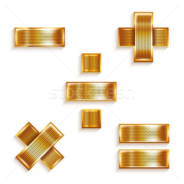 Brief metaal goud lint wiskundig borden Stockfoto © Ecelop