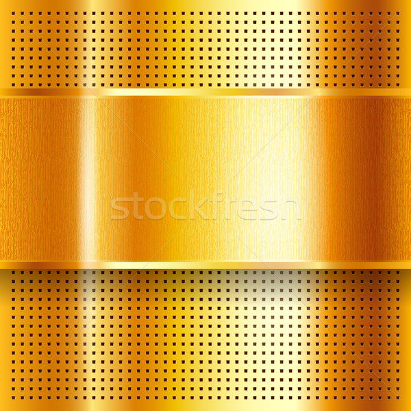 Metallic perforated golden sheet Stock photo © Ecelop