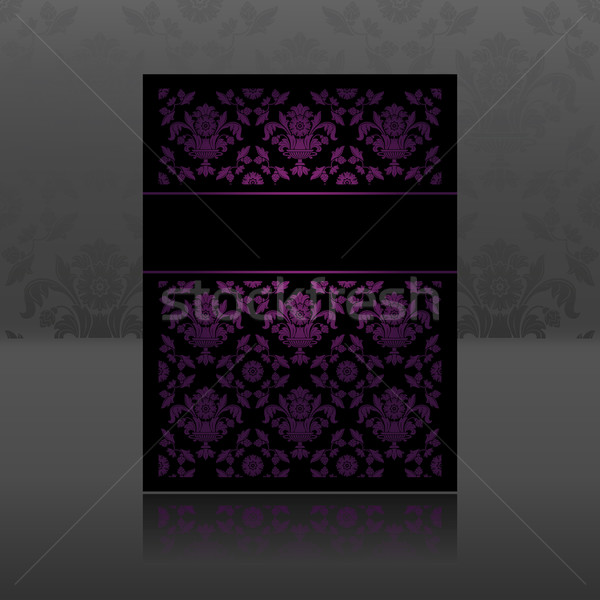Pattern, ornament floral lilac Stock photo © Ecelop