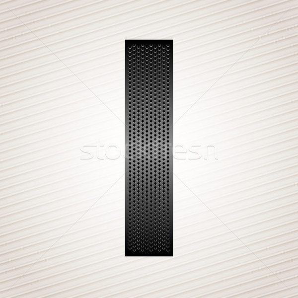 Letter metal ribbon - I Stock photo © Ecelop