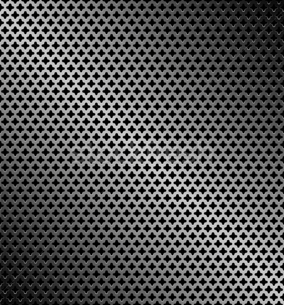 Abstract perforated metallic dark background Stock photo © Ecelop
