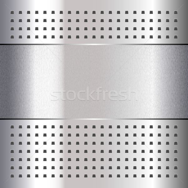 Scratched, on chrome metal background, 10eps Stock photo © Ecelop