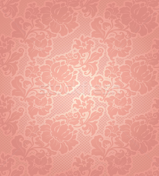 Lace background, ornamental beige flowers wallpaper Stock photo © Ecelop