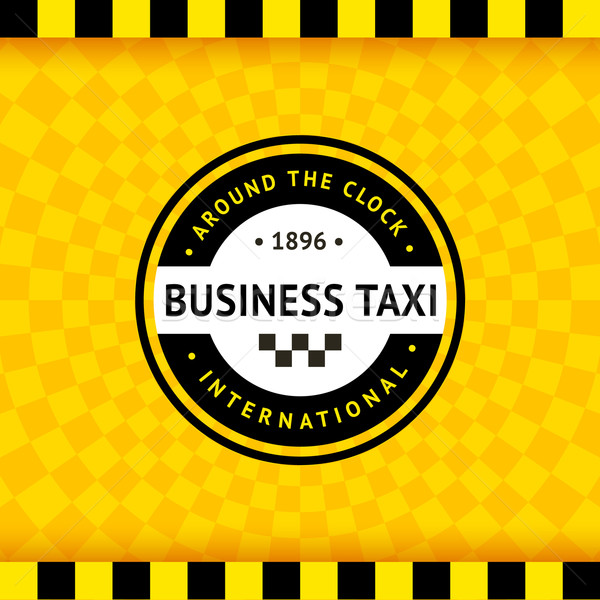 Taxi symbol with checkered background - 24 Stock photo © Ecelop