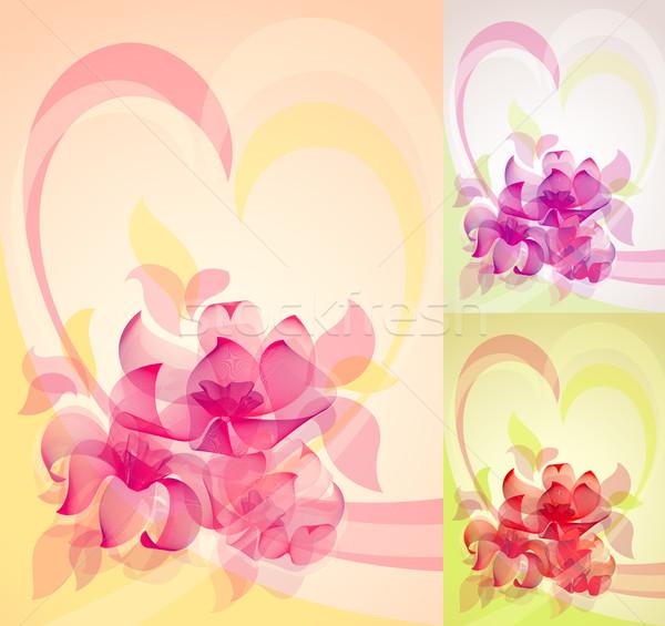 flower color set 10 EPS Stock photo © Ecelop