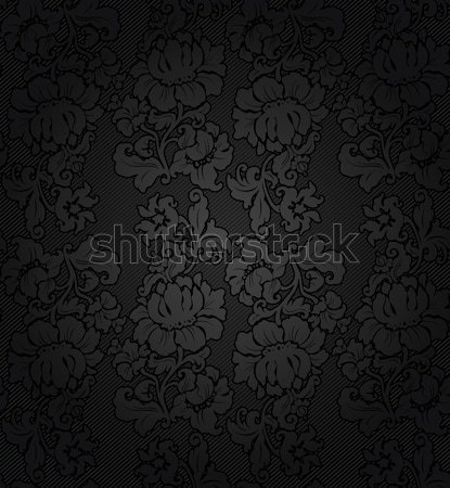 Corduroy dark background, gray flowers texture fabric Stock photo © Ecelop