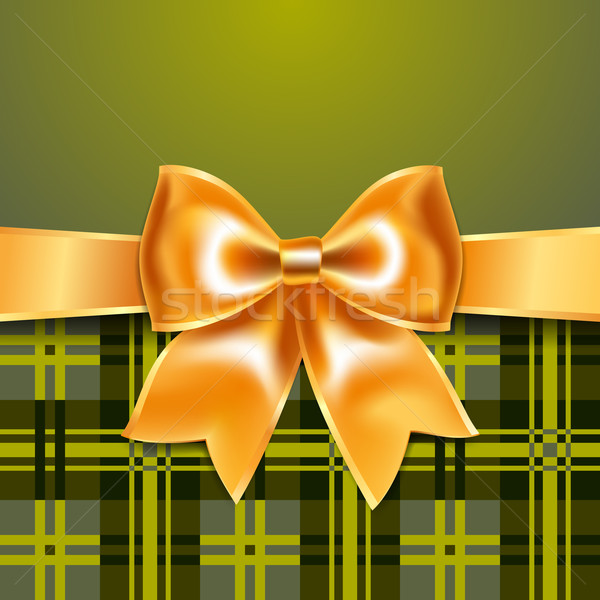 Tartan background with ribbon bow Stock photo © Ecelop