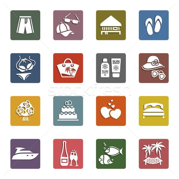Photo stock: Tourisme · vacances · rétro · couleur