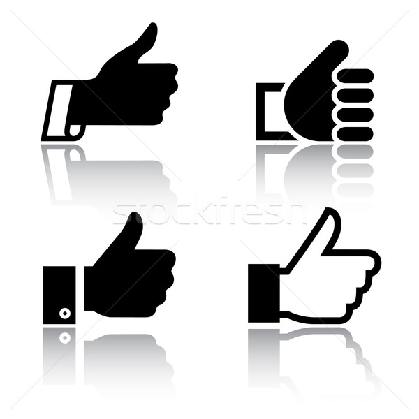 Like, icons with reflection, set 3 Stock photo © Ecelop