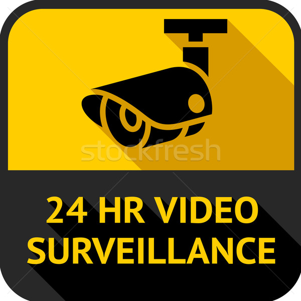 Vídeo observação conjunto praça adesivos abstrato Foto stock © Ecelop