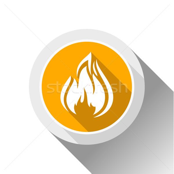 火災 炎 ボタン 影 サークル ストックフォト © Ecelop