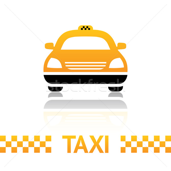 Taxi taxi symbool witte weg achtergrond Stockfoto © Ecelop