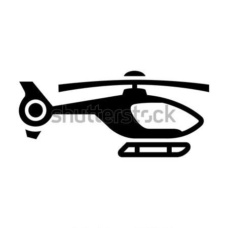 Trasporto cielo aria nero icona isolato Foto d'archivio © Ecelop