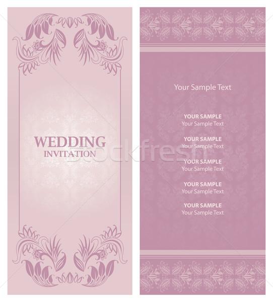 wedding invitation background Stock photo © Ecelop