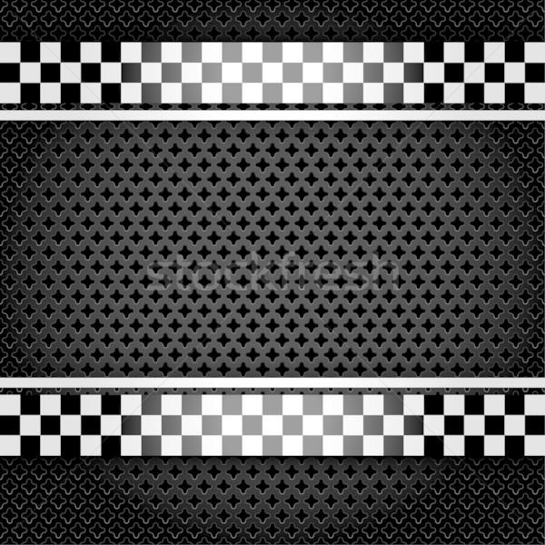 Metallic perforated gray sheet Stock photo © Ecelop