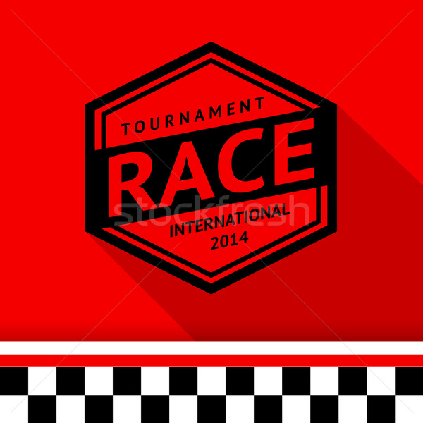 Racing stamp-13 Stock photo © Ecelop