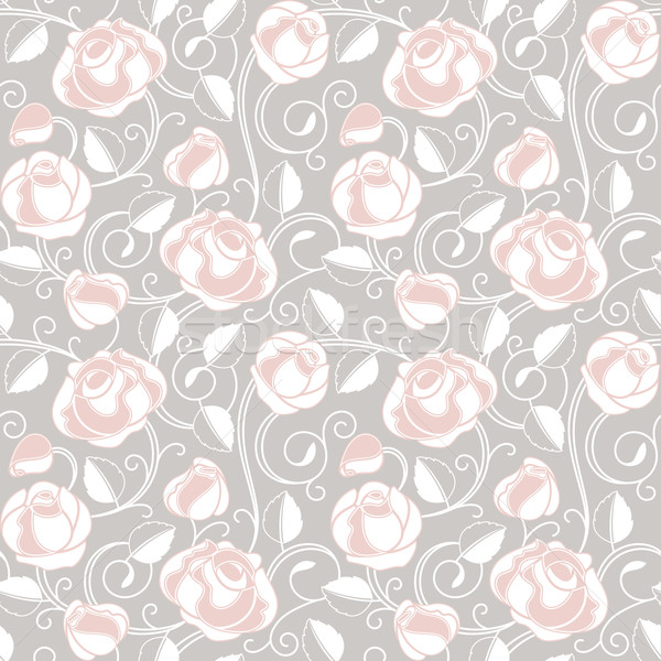 Seamless-wallpaper pattern with of roses Stock photo © Ecelop