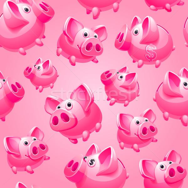Persely rózsaszín végtelenített csomagolópapír pénzügy játék Stock fotó © Ecelop