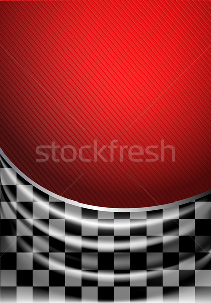 Selyem papírzsebkendő kockás piros út utca Stock fotó © Ecelop