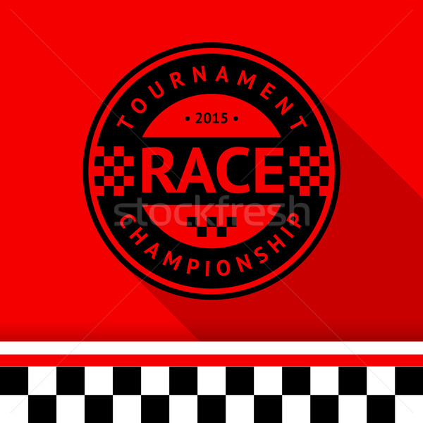 Racing stamp-07 Stock photo © Ecelop