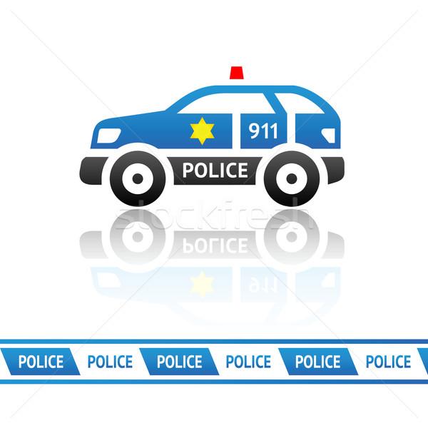 Autó kék vektor dizájn elem utca törvény Stock fotó © Ecelop