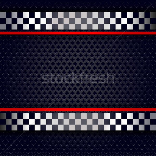 Metallic perforated sheet background for race Stock photo © Ecelop