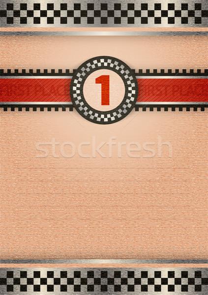 Bizonyítvány díj retro szín üzlet sport Stock fotó © Ecelop
