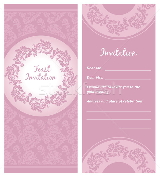 Invitation background, greeting card, vector Stock photo © Ecelop