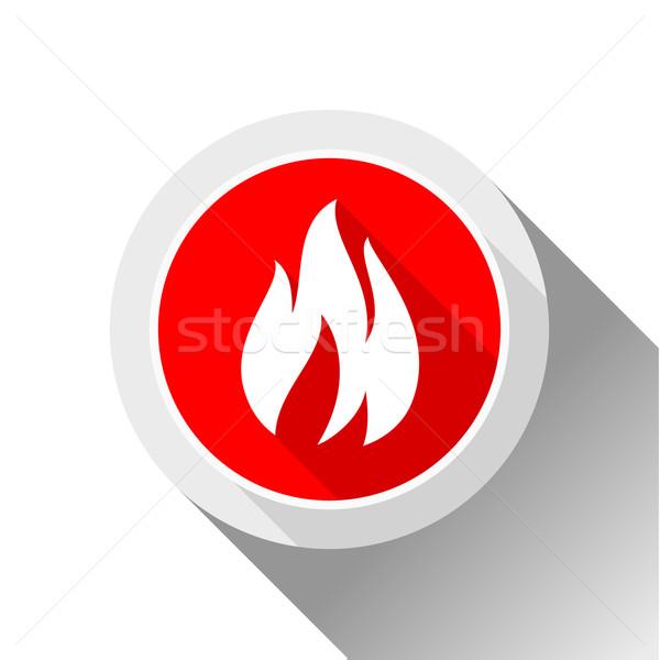 Fire flames, button Stock photo © Ecelop