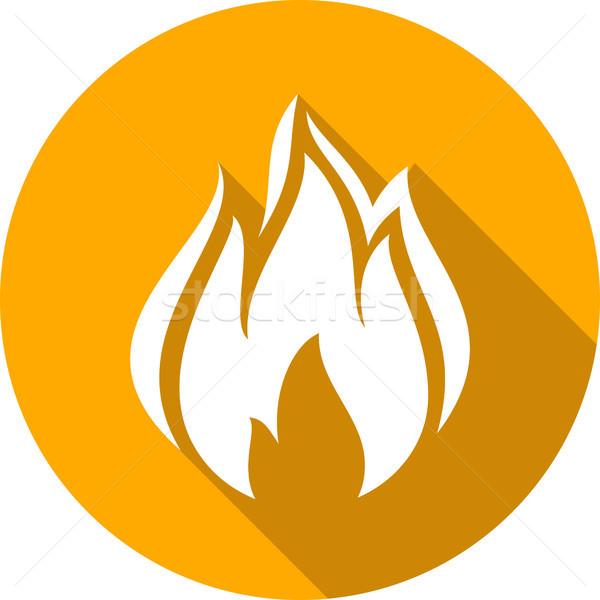 Tűz máglya láng kör forma erő Stock fotó © Ecelop