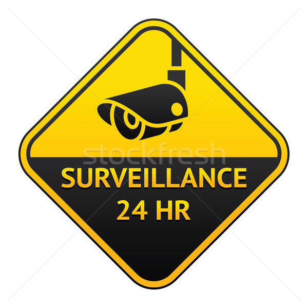 CCTV pictogram, video surveillance sticker Stock photo © Ecelop