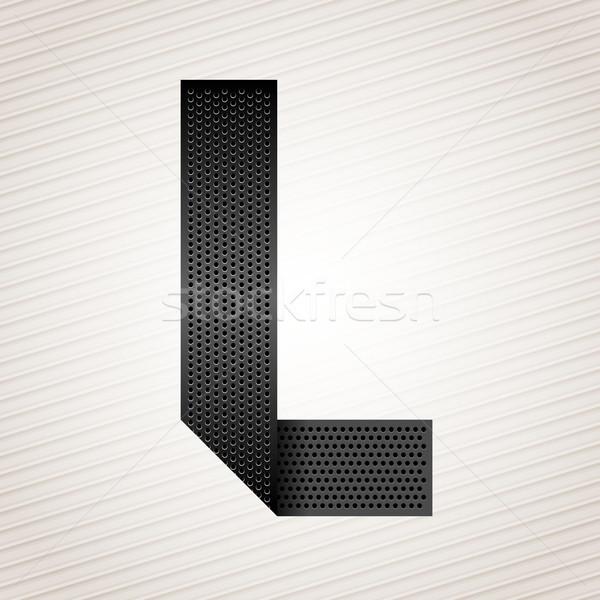Lettre métal ruban police pliées métallique Photo stock © Ecelop