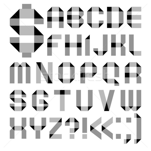 Font from a paper transparent tape - Alphabet letters Stock photo © Ecelop