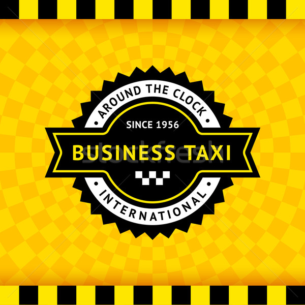 Taxi symbol with checkered background - 10 Stock photo © Ecelop