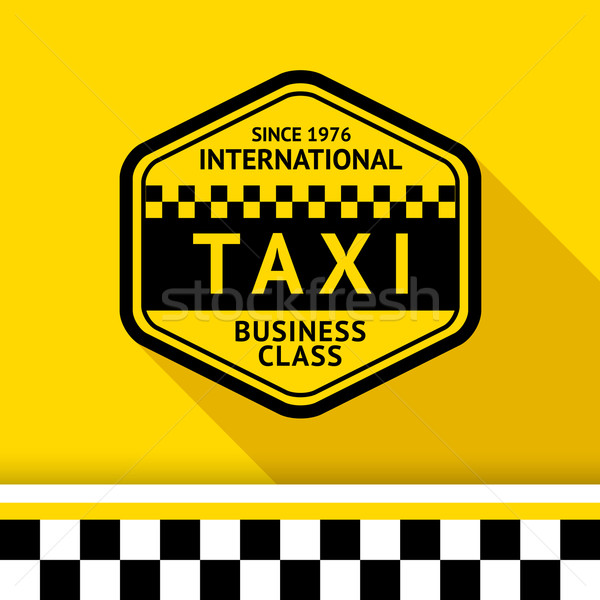 Taxi badge 12 schaduw business weg Stockfoto © Ecelop