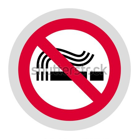 No smoking black sign Stock photo © Ecelop