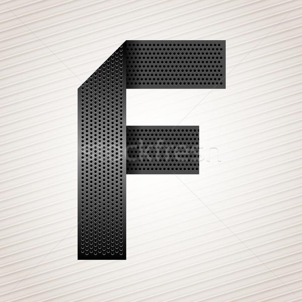 письме металл лента шрифт сложенный металлический Сток-фото © Ecelop