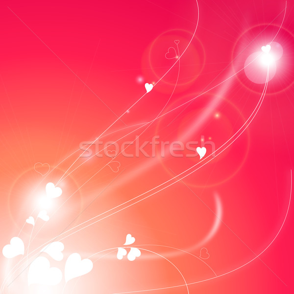 Love background with abstract hearts Stock photo © Ecelop