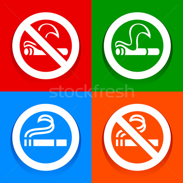 No smoking and Smoking area - Multicolored stickers Stock photo © Ecelop