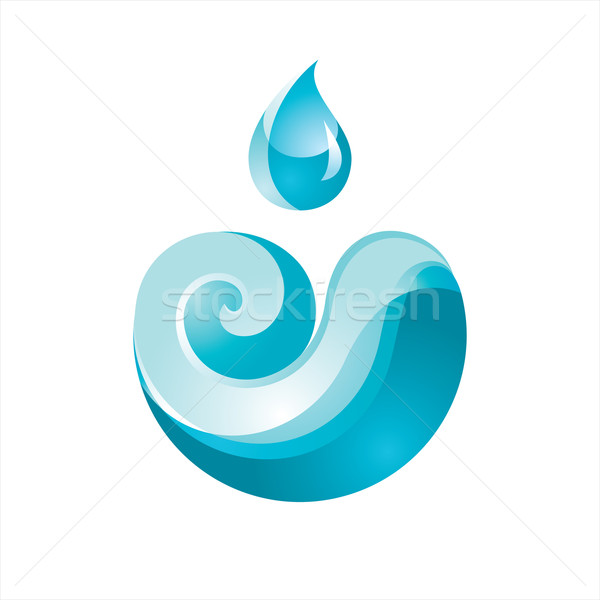Sign Wave with a Drop blue Stock photo © Ecelop