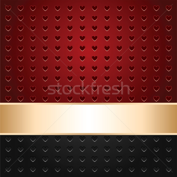 中心 テンプレート 表面 金 リボン ストックフォト © Ecelop