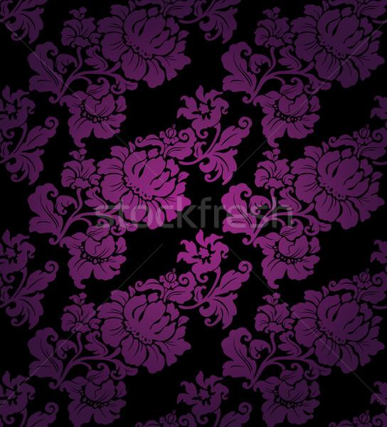 Floral sin costura lila patrón hojas tejido Foto stock © Ecelop