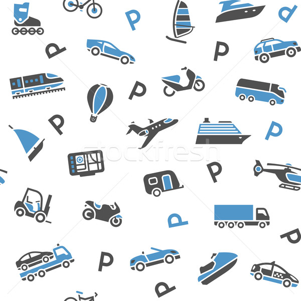 Seamless background transport icons - wrapping paper, 10eps Stock photo © Ecelop