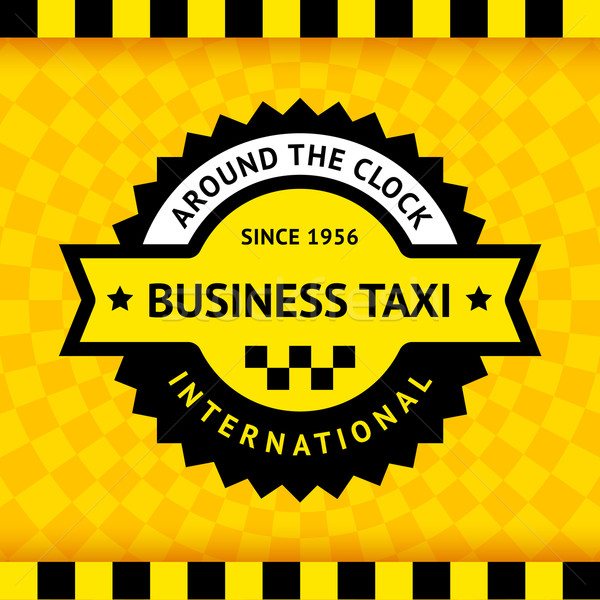 Taxi symbol with checkered background - 03 Stock photo © Ecelop