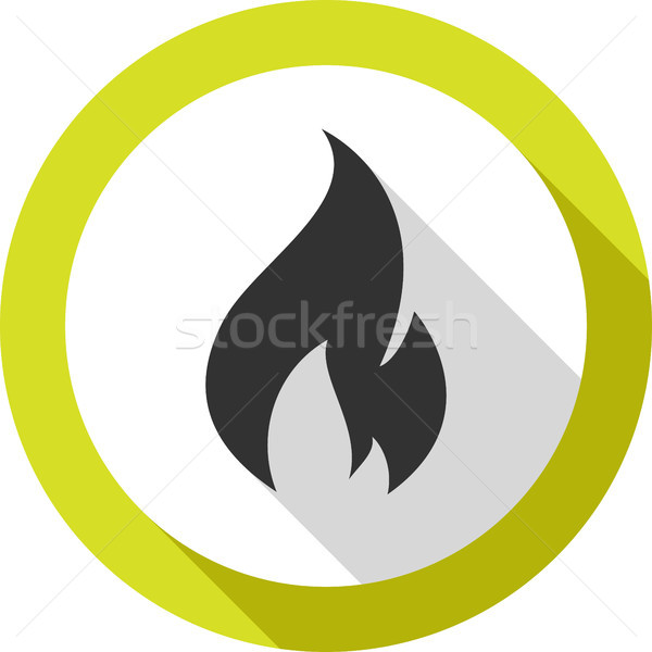 fire bonfire flame bagel shape Stock photo © Ecelop