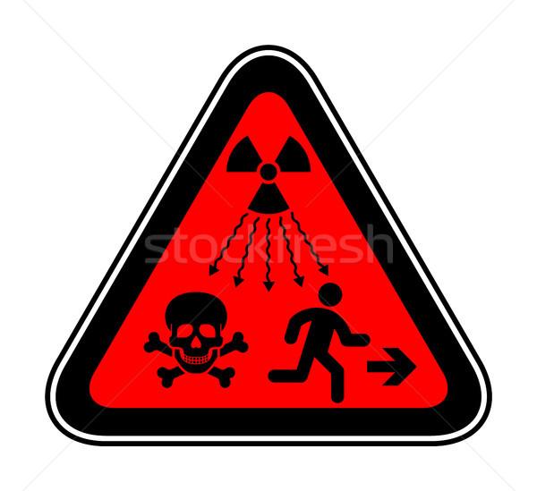 Waarschuwing risico symbool nieuwe iso standaard Stockfoto © Ecelop