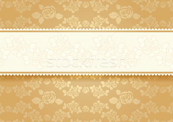 золото роз цветок закрывается ретро эротического Сток-фото © Ecelop